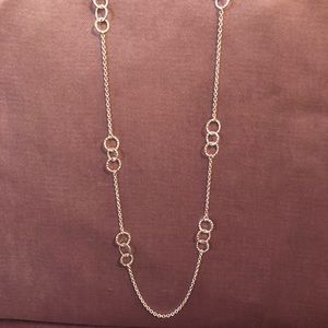 NWOT Hammered Circle Necklace by Banana Republic